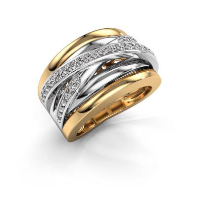 Foto van Ring Clair 3 585 goud zirkonia 1.5 mm