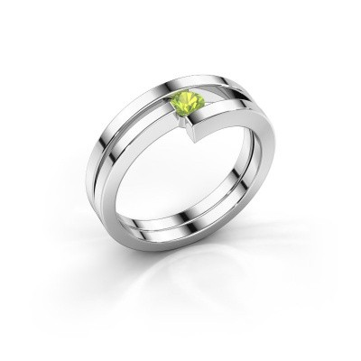 Picture of Ring Nikia 950 platinum peridot 3.4 mm