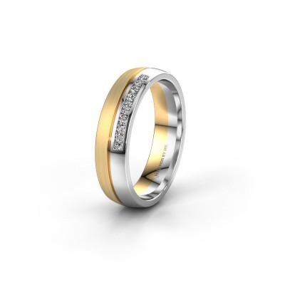 Trouwring WH0209L25APM 585 goud diamant ±5x1.7 mm
