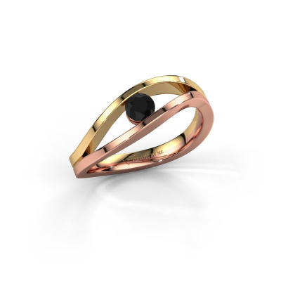 Picture of Engagement ring Sigrid 1 585 rose gold black diamond 0.24 crt
