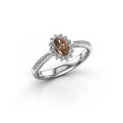 Foto van Verlovingsring Tilly 2 585 witgoud bruine diamant 0.50 crt