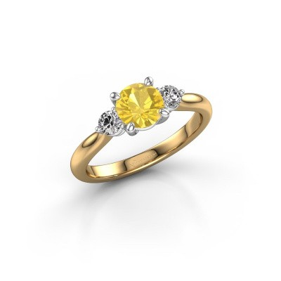 Foto van Verlovingsring Lieselot RND 585 goud gele saffier 6.5 mm
