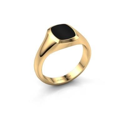 Foto van Pink ring Benjamin 1 585 goud onyx 10x8 mm