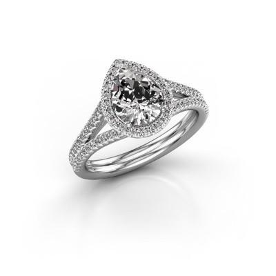 Foto van Verlovingsring Elenore 2 950 platina diamant 1.337 crt