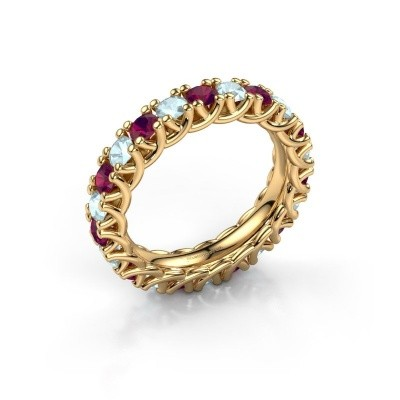 Picture of Ring Fenna 375 gold rhodolite 3 mm