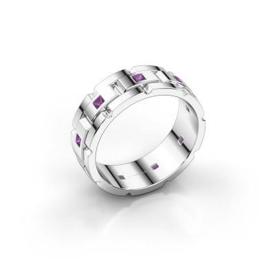 Bild von Rolex Stil Ring Ricardo 950 Platin Amethyst 2 mm