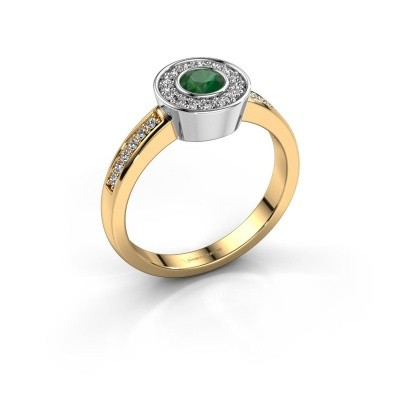 Ring Adriana 2 585 Gold Smaragd 4 mm