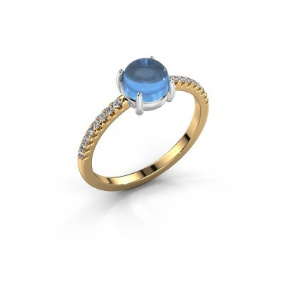Ring Cathie 585 goud blauw topaas 6 mm