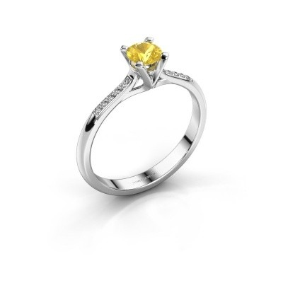 Picture of Engagement ring Isa 2 950 platinum yellow sapphire 4.2 mm