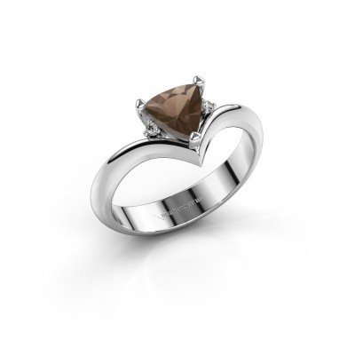 Picture of Ring Arlette 925 silver smokey quartz 7 mm