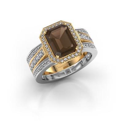 Foto van Ring Dodie 3 585 goud rookkwarts 9x7 mm