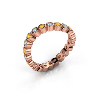 Ring Liz 585 rosé goud citrien 2 mm
