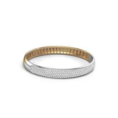 Slavenarmband Emely 8mm 585 goud zirkonia 1.4 mm