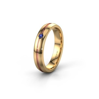 Wedding ring WH0424L24A 585 gold sapphire ±4x1.7 mm