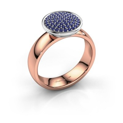 Ring Tilda 585 rosé goud saffier 1 mm