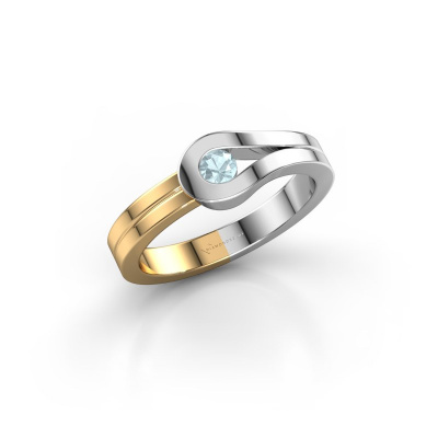 Ring Kiki 585 white gold aquamarine 3 mm
