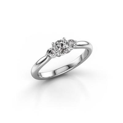 Foto van Verlovingsring Lieselot RND 585 witgoud diamant 0.460 crt