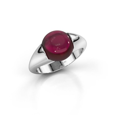 Picture of Ring Robine 375 white gold garnet 10 mm