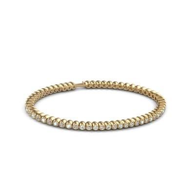 Tennisarmband Trix 375 goud aquamarijn 2 mm