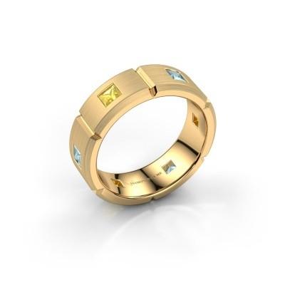 Foto van Heren ring Steve 585 goud gele saffier 3 mm