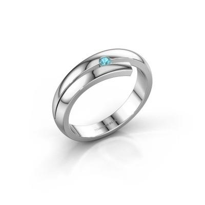 Ring Shela 925 zilver blauw topaas 2.2 mm