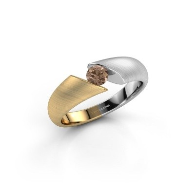 Foto van Verlovingsring Hojalien 1 585 goud bruine diamant 0.25 crt
