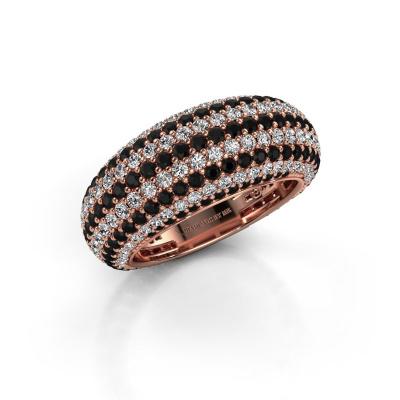 Foto van Ring Lyndia 585 rosé goud zwarte diamant 3.058 crt