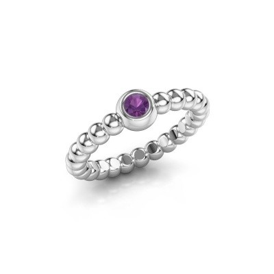 Stackable ring Dini 950 platinum amethyst 3 mm