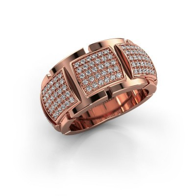 Ring Laura 375 rosé goud zirkonia 1 mm