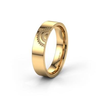 Trouwring WH2116M25A 585 goud ±5x1.7 mm