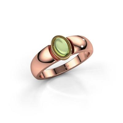 Ring Tonneke 585 rosé goud peridoot 6x4 mm