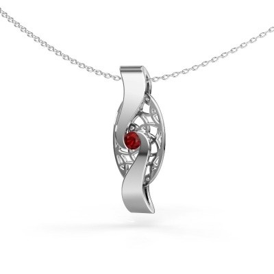 Pendant Darleen 585 white gold ruby 3 mm