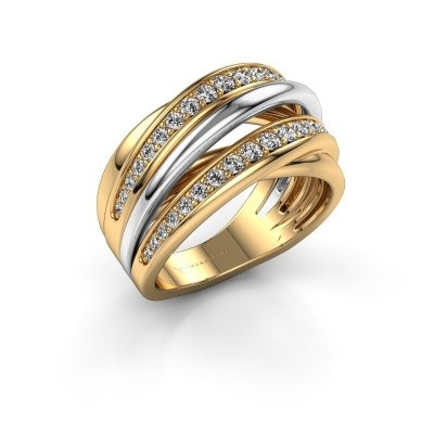 Ring Marylouise 2 585 gold zirconia 1.2 mm