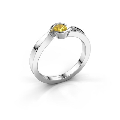 Ring Lola 925 Silber Gelb Saphir 4 mm