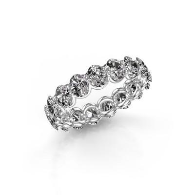 Foto van Ring Kirsten OVL 5x3 585 witgoud diamant 4.60 crt