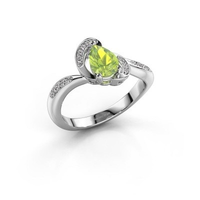 Picture of Ring Jonelle 585 white gold peridot 7x5 mm