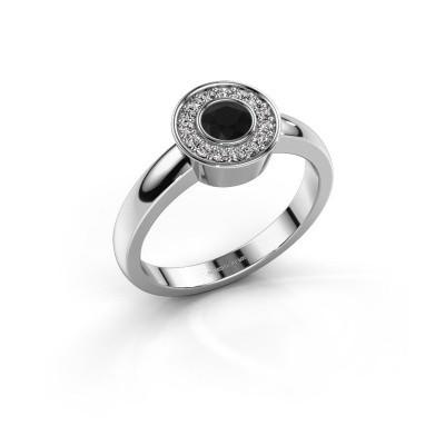 Foto van Ring Adriana 1 950 platina zwarte diamant 0.42 crt