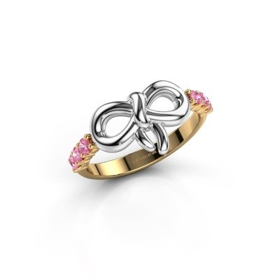 Ring Olympia 585 goud roze saffier 2.2 mm
