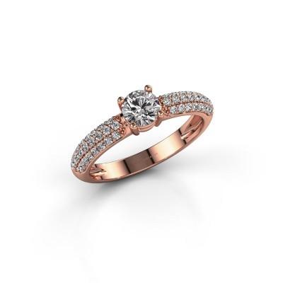 Foto van Verlovingsring Marjan 375 rosé goud diamant 0.769 crt