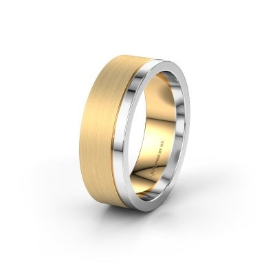 Wedding ring WH0325M17APM 585 gold ±0.28x0.07 in