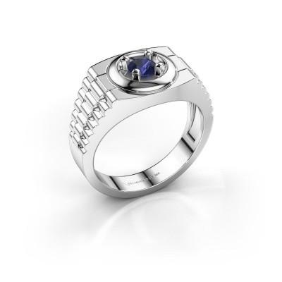 Foto van Rolex stijl ring Edward 925 zilver saffier 4.7 mm