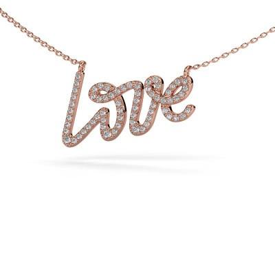 Hanger Love 375 rosé goud diamant 0.357 crt