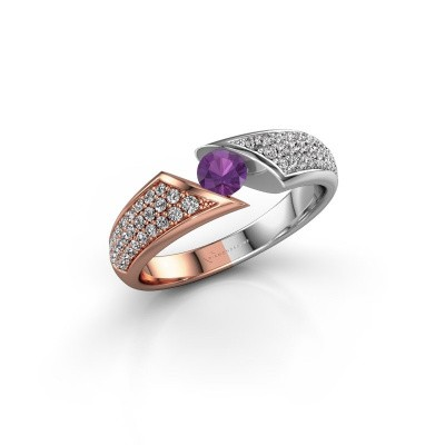 Picture of Ring Hojalien 3 585 rose gold amethyst 4 mm
