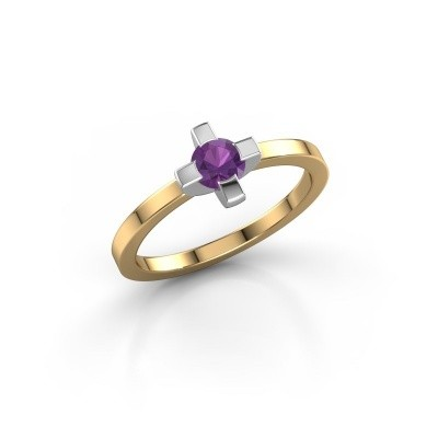 Ring Therese 585 goud amethist 4.2 mm