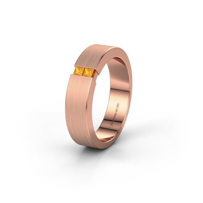 Wedding ring WH2136L15E 375 rose gold citrin ±5x2.6 mm