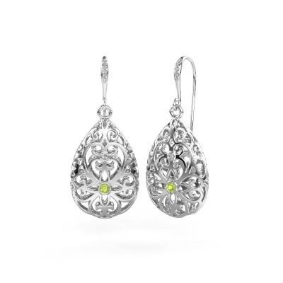 Picture of Drop earrings Idalia 2 375 white gold peridot 2 mm
