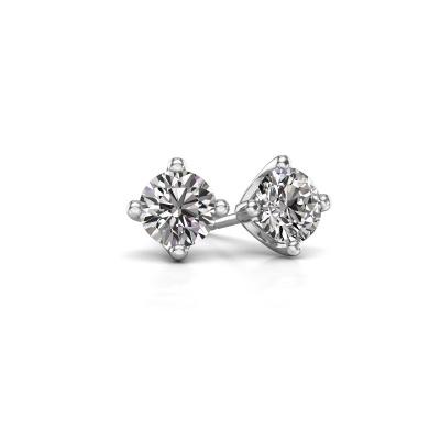 Foto van Oorknopjes Briana 585 witgoud diamant 0.20 crt