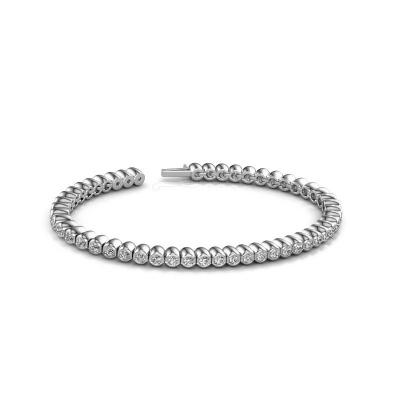 Picture of Tennis bracelet Bianca 2.4 mm 585 white gold lab-grown diamond 2.75 crt