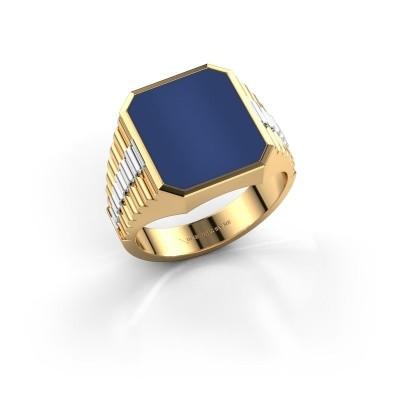 Foto van Rolex stijl ring Brent 3 585 goud lapis lazuli 14x12 mm