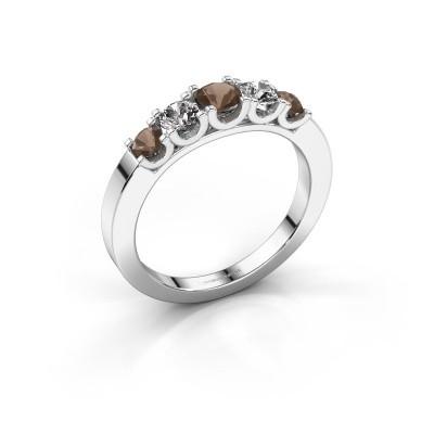 Foto van Verlovingsring Selina 2 925 zilver rookkwarts 3.7 mm